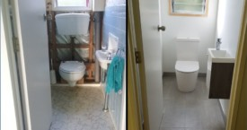 Isobel Rd toilet before and after