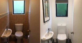Harding before and after toilet suite